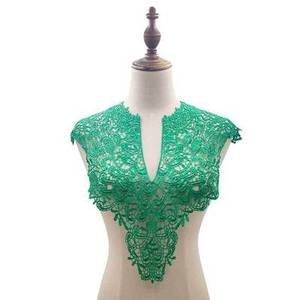 """Image 2 - 7 Color """"Front Collar+Back Collar"""" Craft Venise Sequins Floral Embroidered Applique for DIY Costume Decoration Accessories"""