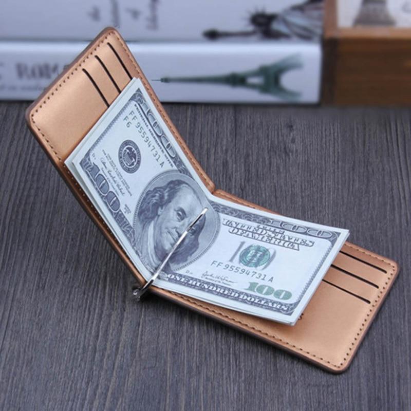 Fashion Men Long Wallet Purse Dollars Passport Card Leather Money Bag Small Slim Wallets Purses Luxury Brand Case Passes Holder