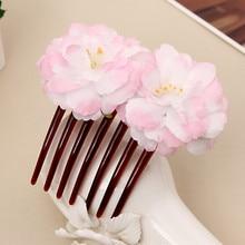 цены на Ladies Bridal Flower Hair Comb Wedding Accessories Red Rose Hairpin Hair Jewelry For Women Jewelry Y826  в интернет-магазинах