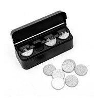 플라스틱 플라스틱 1Pcs 동전 컨테이너 자동차 동전 주최자 변경 돈 저장 상자 동전 홀더 휴대용 블랙|머니 박스|   -