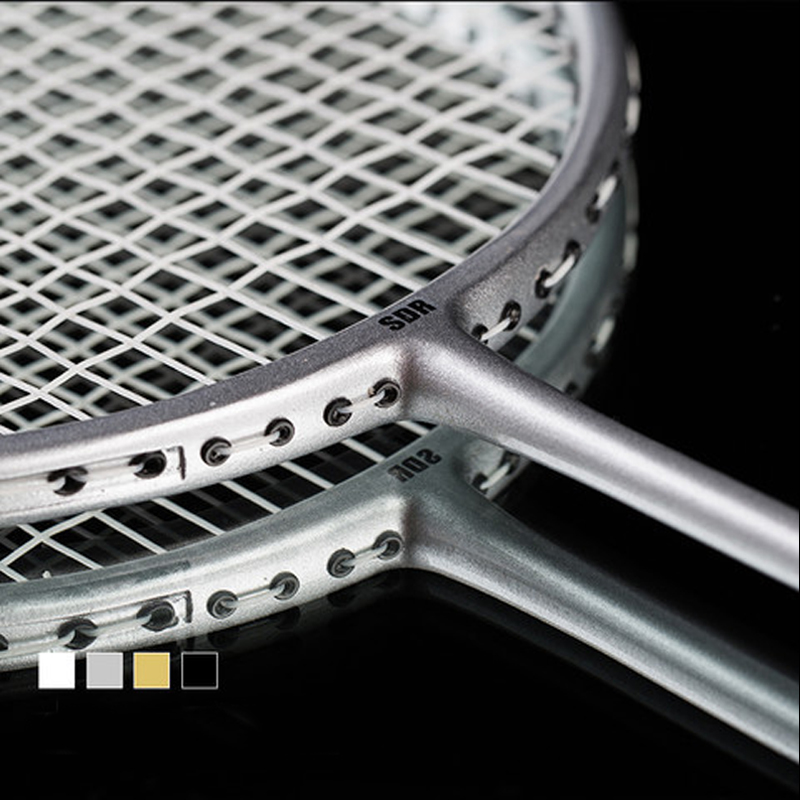 2 Professional Badminton Rackets Set Double Badminton Racket Carbon Braided Badminton Racket 20-22 Pounds Badminton Racket