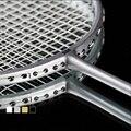 2 professionelle badminton schläger set doppel badminton schläger carbon geflochtene badminton schläger 20-22 £ badminton schläger