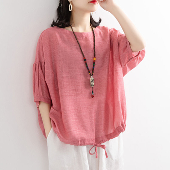 Womens Casual Cotton Tops