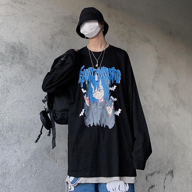 Фото универсальная хлопковая винтажная футболка в стиле хип хоп с
