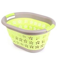 En iyi su geçirmez depolama sepeti çantası oyuncak kirli çamaşır sepeti çanta giysi oyuncaklar saklama kutusu çeşitli eşyalar silikon katlanabilir sepet Gr