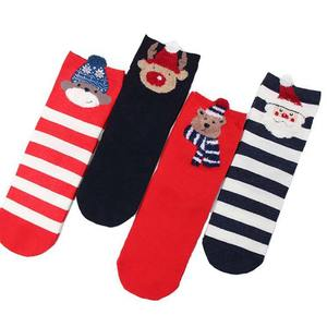 Deer Socks 1-Pair Winter Cotton Cartoon Casual Link-1 Keep-Warm