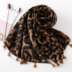 Image 3 - Leopard Scarf for Women Oversized Cheetah Animal Print Wrap Shawl Lightweight Scarves