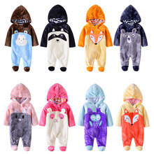 2019 Autumn babies clothes for newborn baby boy&girl Winter Hoodie Clothes romper 0-12m costume Boy Jumpsuit