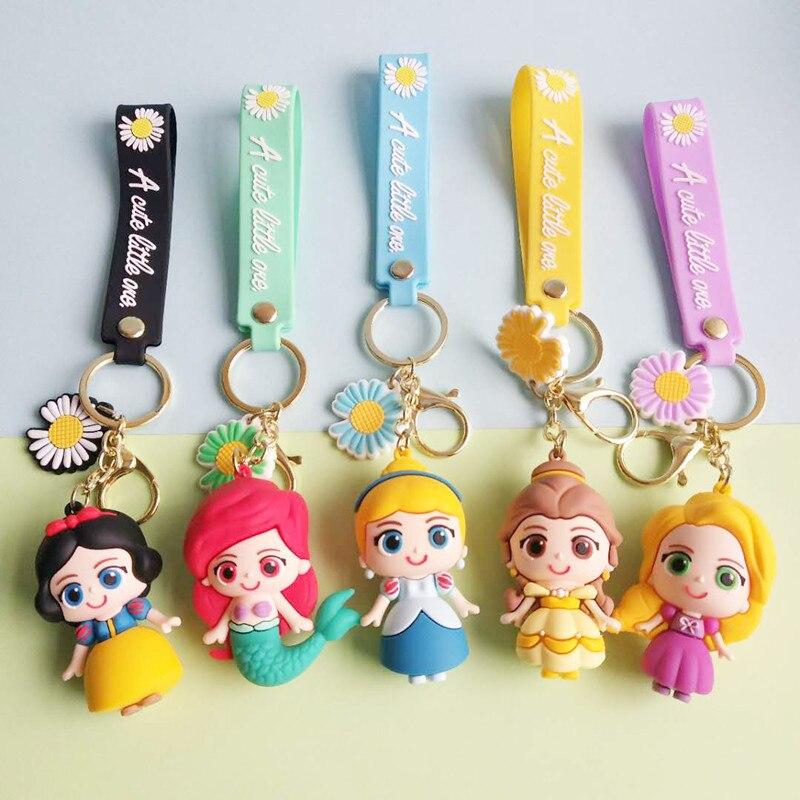 Cartoon cute princess keychain car bag fashion trend key pendant