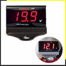 Motosiklet KOSO voltmetre/gerilim metre/Levelometer (LED ekran) scooter için GY6 50 125 150 GP110 BWS125 RS100 ve birçok mor