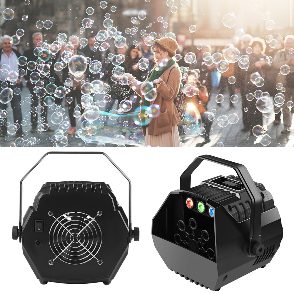 LED RGB Stage Effect Lights Automatic Bubble Machine Wireless Remote Control Romantic Effect Light For Wedding Parties Festivals