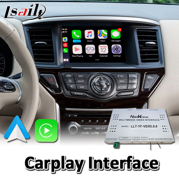 Lsailt Wireless Carplay Interface for Nissan Pathfinder R52 2013-2017 Year Wired Android Auto Youtube Video Music Play image