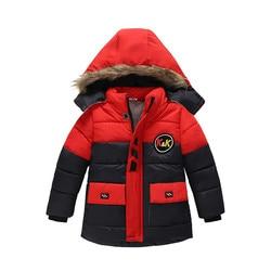 4-12Yrs Baby Boys Winter Jacket&Coat Baby Boys Solid Winter Hooded Down Coat Winter Outwear,Kids Warm Cotton Padded Coat