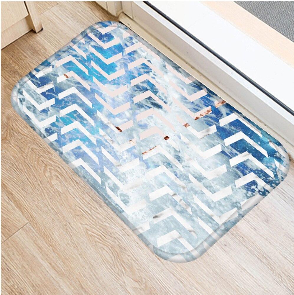 Image 4 - 40 * 60cm Geometric Marble Floor Mat Non slip Suede Carpet Door  Mat Kitchen Living Room Floor Mat Bedroom Decorative Floor Mat .Rug