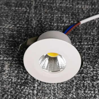 Spot mini led downlight 1W 3W recessed 110v 220v showcase Cabinet lighting White Black Silver Bulb Aluminum 4000K lamps