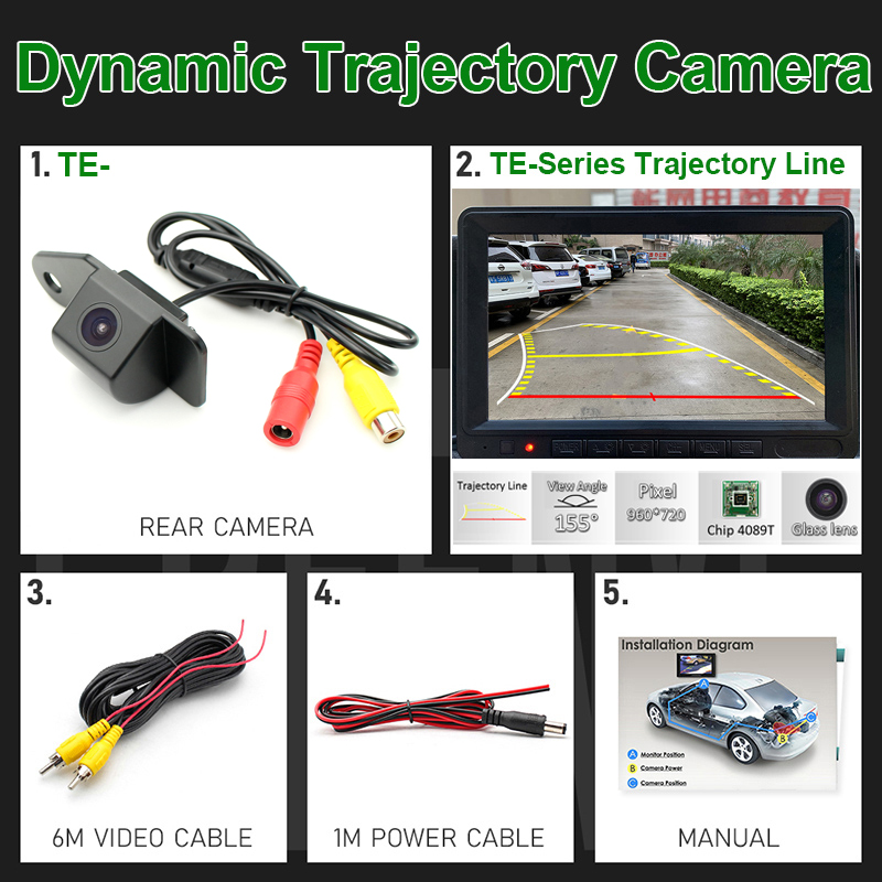Dynamic Trajectory Rear View Camera+Moving Guide Parking Line For Mitsubishi ASX
