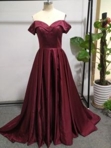 Image 5 - Elegant Evening Dresses Sweetheart Satin Boat Neck Evening Gowns Long Party Gowns Side Split Robe De Soiree Sexy Formal Dresses