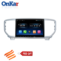 ONKAR 1 din car Radio for KIA Sportage 2019 Car Stereo GPS Navigation WIFI 3G Mirror Link Support Steering Wheel Control camera