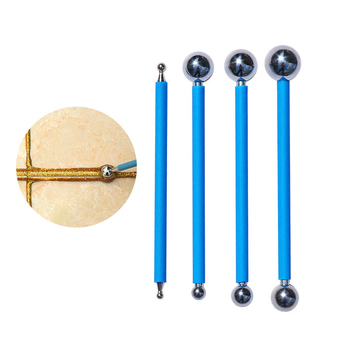 4pcs Double Steel Press Ball Tile Grout Repairing Stick Ceramic Floor Grout Glue Gap Scraping Construction Tools HSS Hand Tools practical tile grout for fill the wall floor ceramic waterproof mouldproof gap filling agent sealant home construction tool