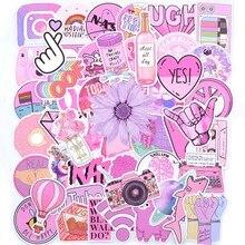 50PCS Cool Summer Vsco Stickers Pack Pink Girl Anime Stiker For Children On The Laptop Fridge Phone Skateboard Suitcase Sticker