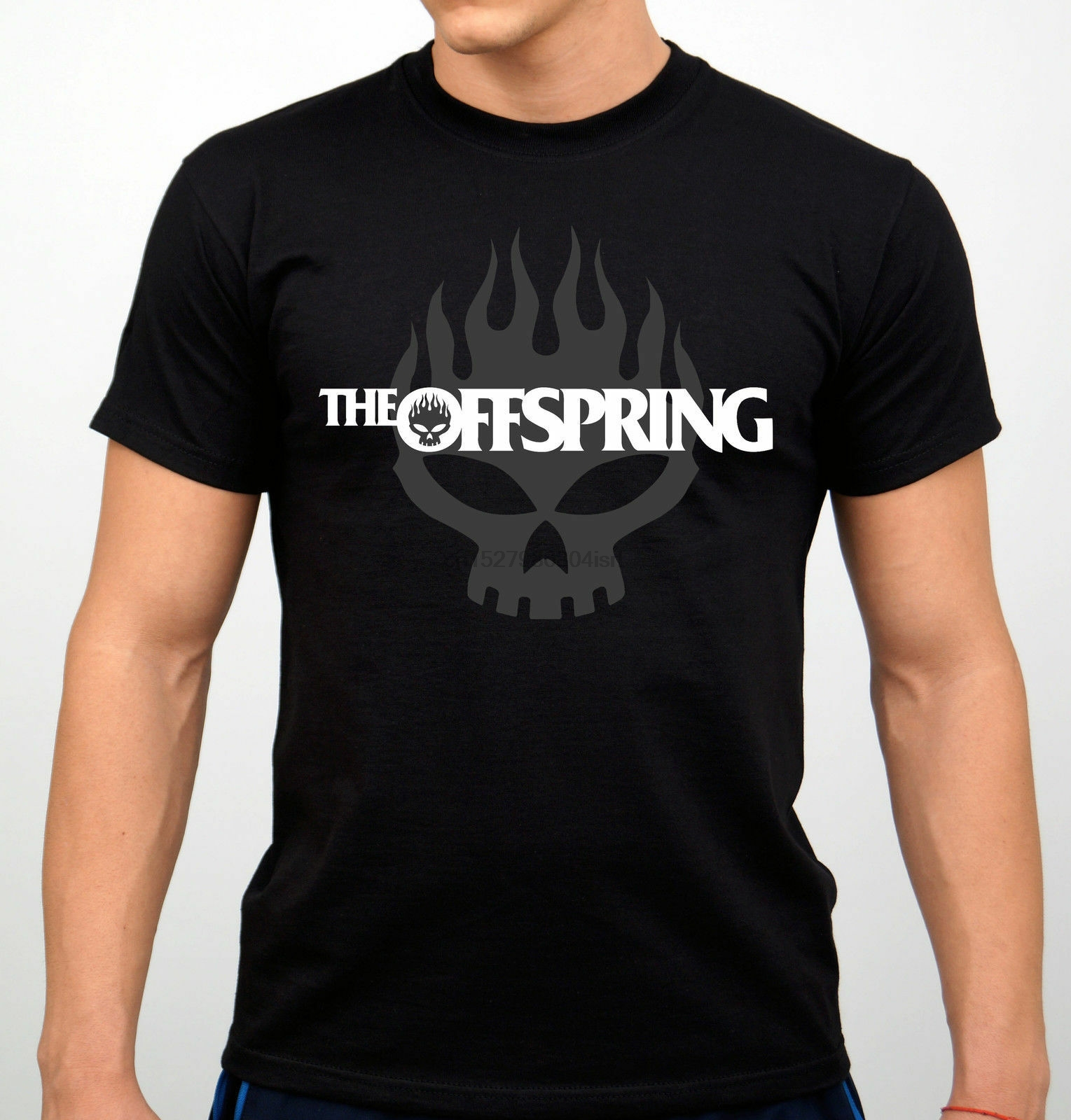 New 89959-Popular The Offspring Skull Rock Band Mens T Shirt Size S-5XL