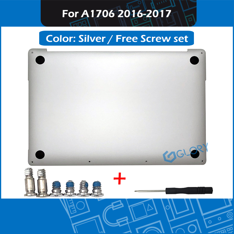 """New Laptop Silver A1706 Bottom Case for Macbook Pro Retina 13"""" Touch Bar Late 2016 Mid 2017 Lower Cover Bottom Shell Replacement-in Laptop Bags & Cases from Computer & Office    1"""
