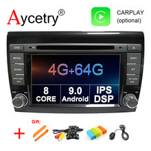 4G + 64G 8 Core 2 DIN Android 9.0 Car DVD Multimedia Player GPS Audio untuk Fiat Bravo 2007-2012 Mobil Radio Stereo OBD2 DVR DSP IPS(China)