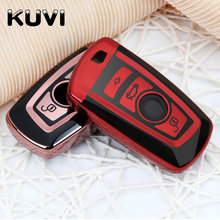 TPU Car Remote Key Shell Replacement Upgraded Case for BMW F07 F10 F11 F20 F25 F26 F30 cover key chain keyring