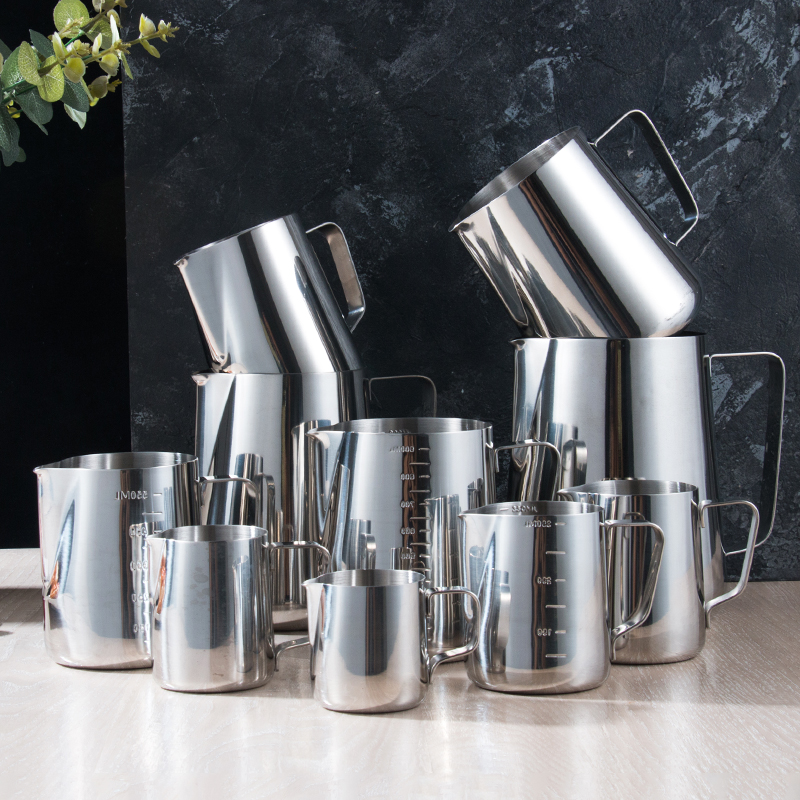 Kitchen Stainless Steel Milk Frothing Jug Espresso Coffee Pitcher Barista Craft Coffee Latte Milk Frothing Jug Pitcher Pf9280499