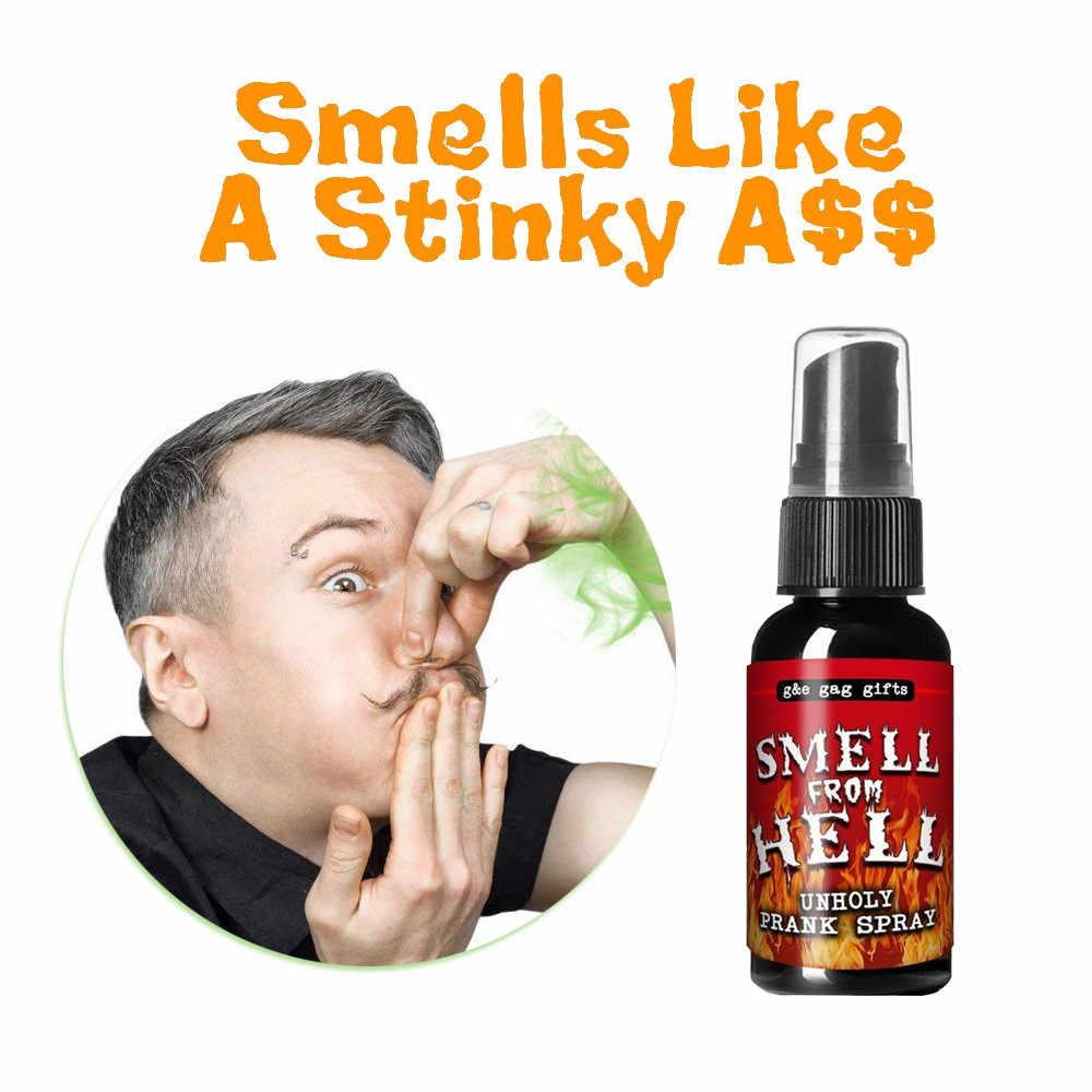 Novidades líquido peido gag brincadeira spray pode cheirar bomba fedorento gás porcaria de alta qualidade