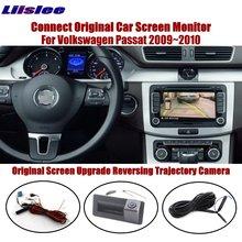Liislee For Volkswagen Passat 2009~2010 Reverse Trunk Handle Camera Compatible Original Screen Intelligent Dynamic Trajectory