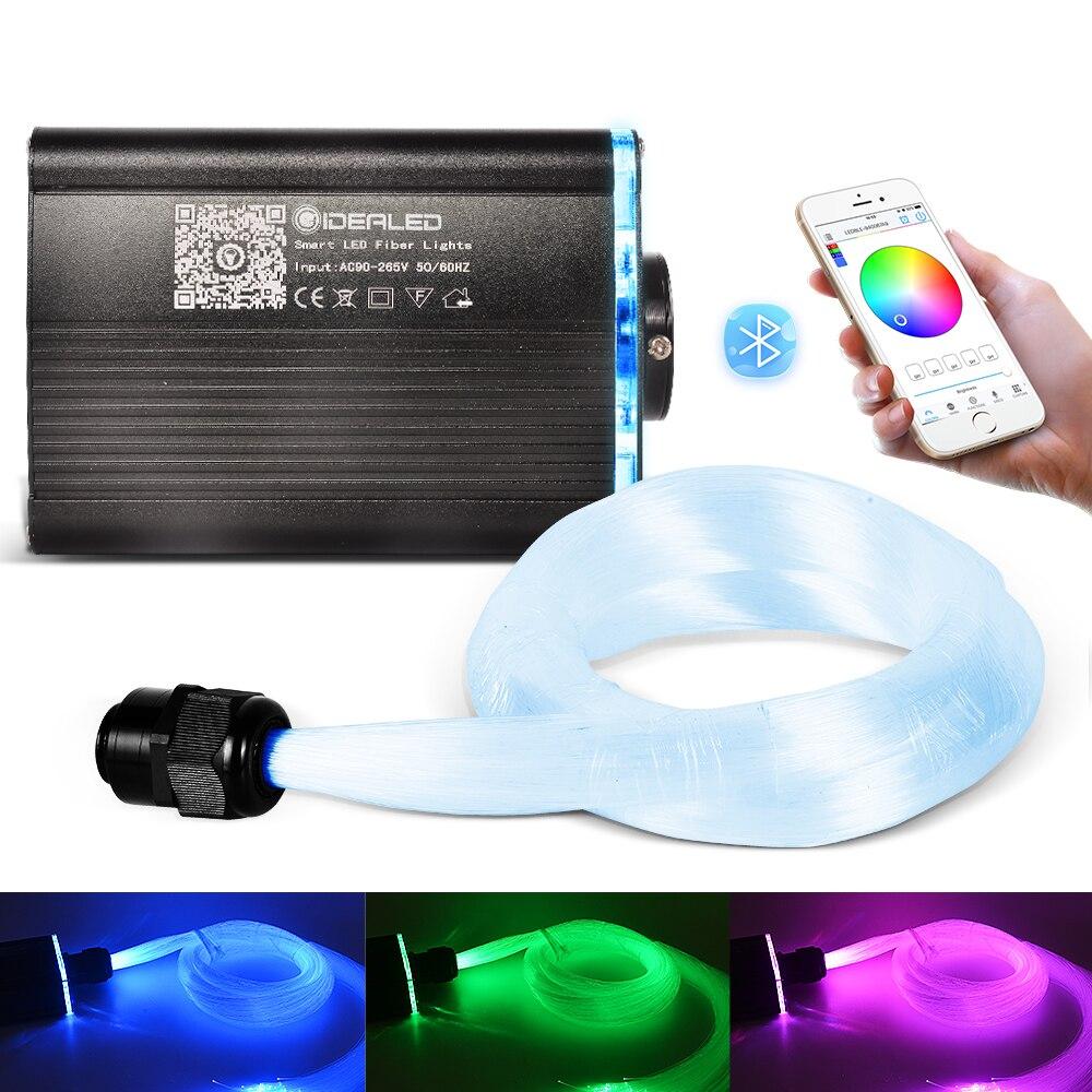 光ファイバライトスマート App 制御 18 ワット RGBW 星空効果シーリングライト 2-5 メートルの光ファイバケーブルご用意車の装飾