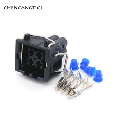 5 Sets 4 Pin Way Tyco AMP Waterproof Automotive Connector Air Conditioning Pressure Switch Plug For VW AUDI 357919754 444524-1