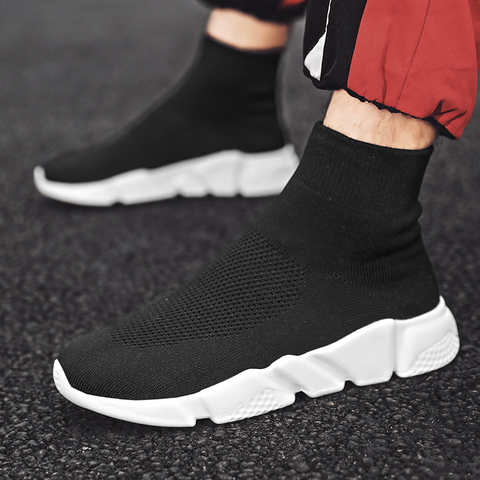 Socks shoes high waist couple high-top shoes white breathable men and women sports shoes tide shoes  casual shoes Pakistan