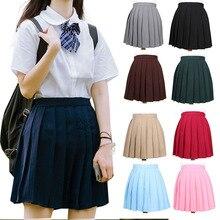 Dress Pleated-Skirts School-Uniform JK Students-Cloths Girl's Japanese Solid-Colors Women's