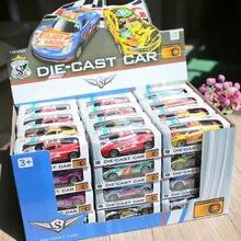 Mini voiture en alliage de 5/10/20/48 pièces, véhicule jouet, roues en plastique, boîte à tirette automatique en métal, idée cadeau pour garçons