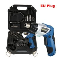 46Pcs Wireless Handheld Electric Screwdriver Set Household Rechargeable Drill Gun Tools Multi function Screwdrivers