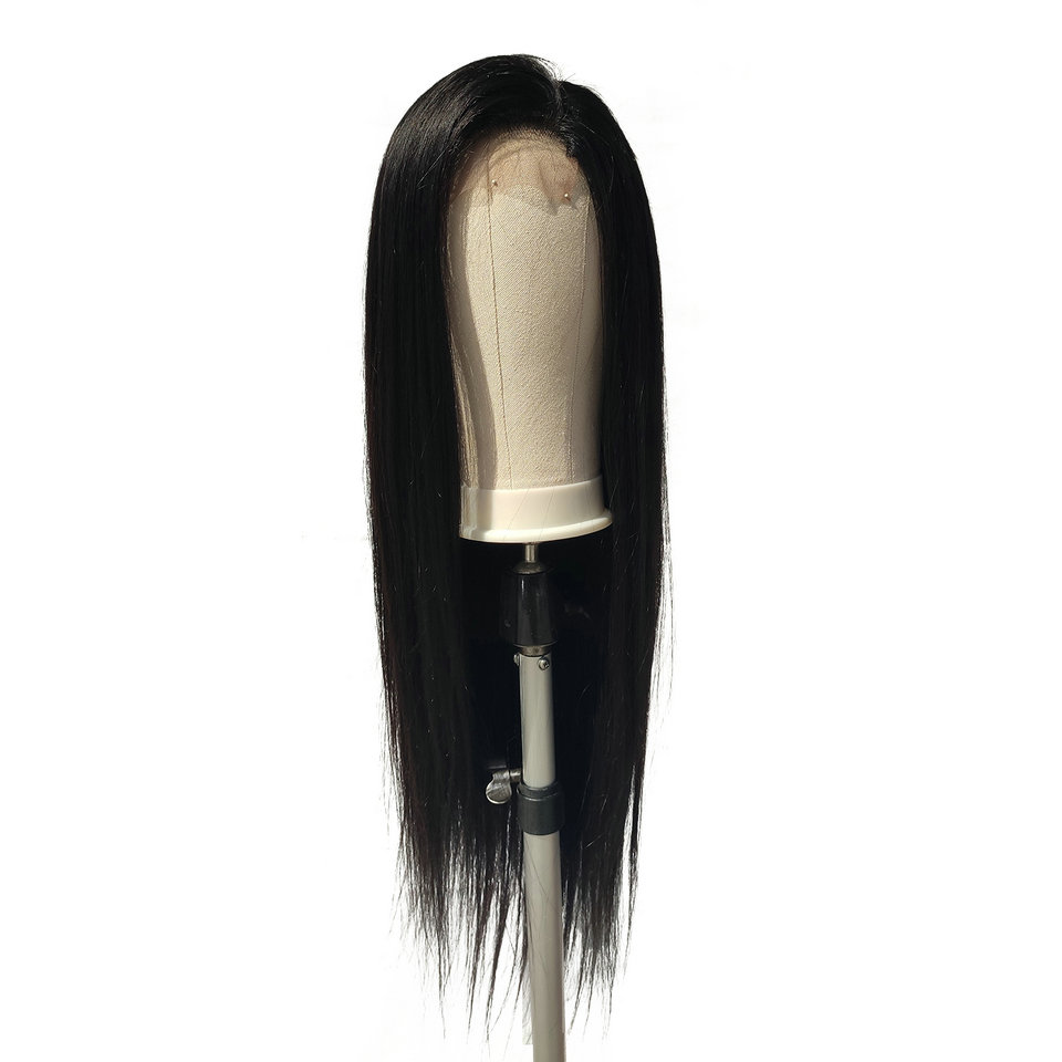 EMOL Brazilian Straight Lace Closure Wigs Pre Plucked Hairline 150% Density Remy Human Hair Wigs with Baby Hair 4x4