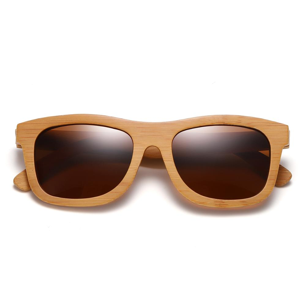 GM Vintage Bambu Kayu Kacamata Buatan Tangan Terpolarisasi Cermin - Aksesori pakaian - Foto 4