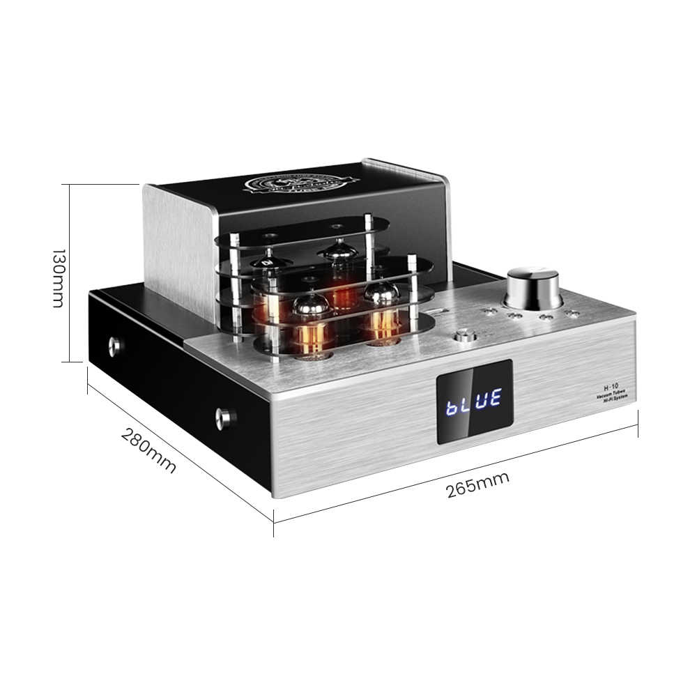 6P1 6N2 Tabung Vakum Preamplifier 80W * 2 Built-In Bluetooth 4.2 HI FI Digital Audio Amplifier Stereo Power Suara Amplificador