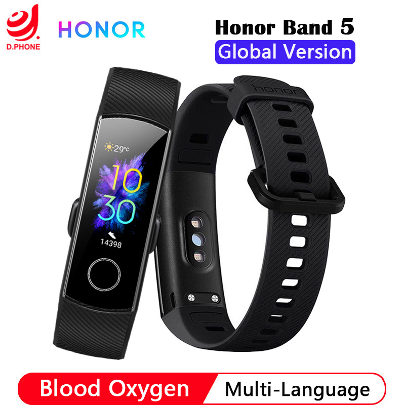Huawei Honor Band 5 Smart Bracelet Global Version Blood Oxygen Smartwatch AMOLED Huawei Smart Band Heart Rate Fitness Tracker