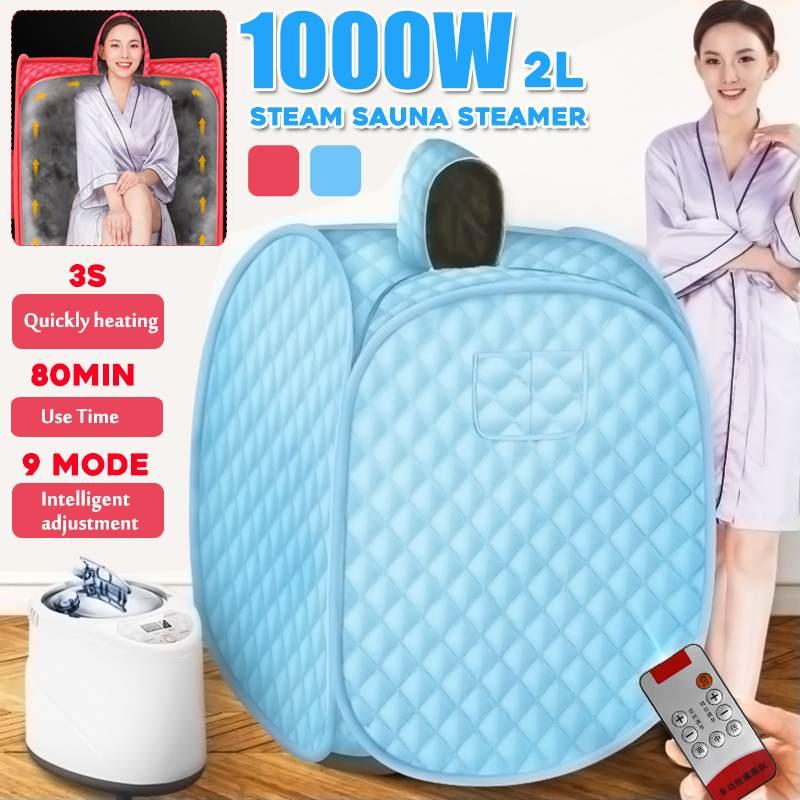 1000W 2L Portable Steam Sauna Home Sauna Generator Slimming Household Sauna Box Ease Insomnia Sauna Steamer With Remote