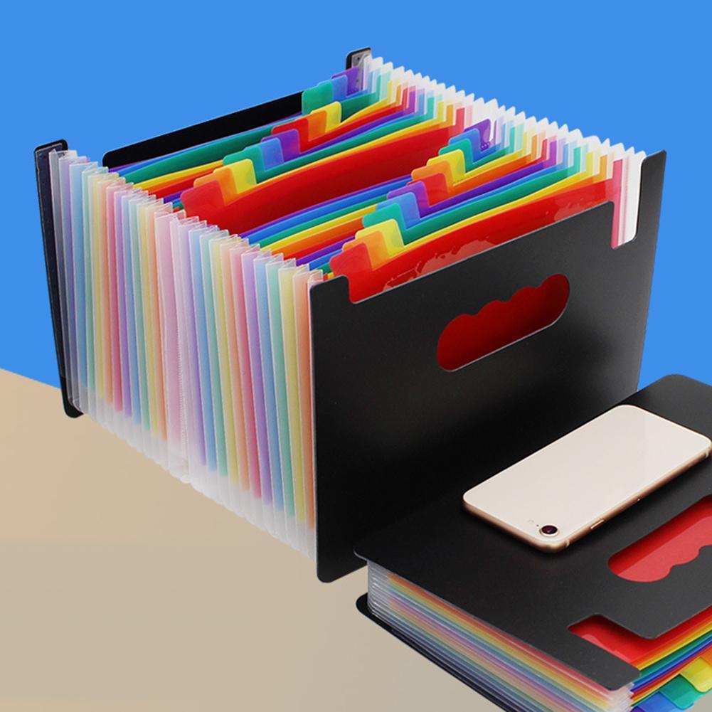 Colorful A5 Multi-Layer Expanding File Receipt Folder Organizer Pockets Holder