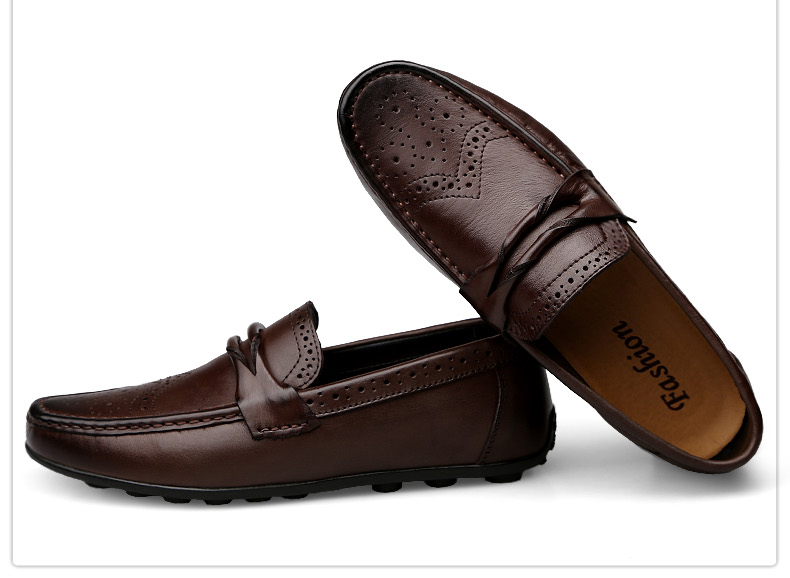 Hd32a249ab5ae49cd8053130805390505Y Men Loafers Shoes Genuine Leather Casual Sneakers Male Fashion Carved Boat Footwear Soft Dress Party Shoes Men Chaussure Homme