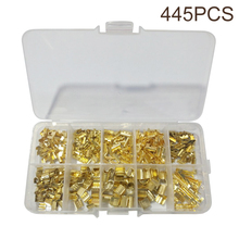 цена на 445pcs U-shaped Terminal 0.5-1.5mm Splice Terminals Cold-pressed Connector Cable Electric Sertir Wire Connection