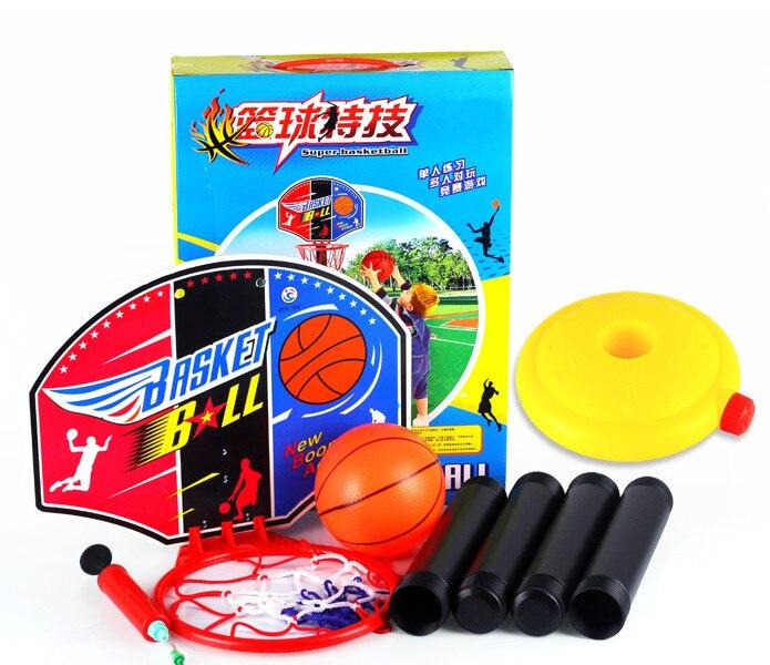 -Basketball Household Kids Basket Shooting Frame Indoor Wall Hanging Height Adjustable Basket Mobile Basketball Stand Children H
