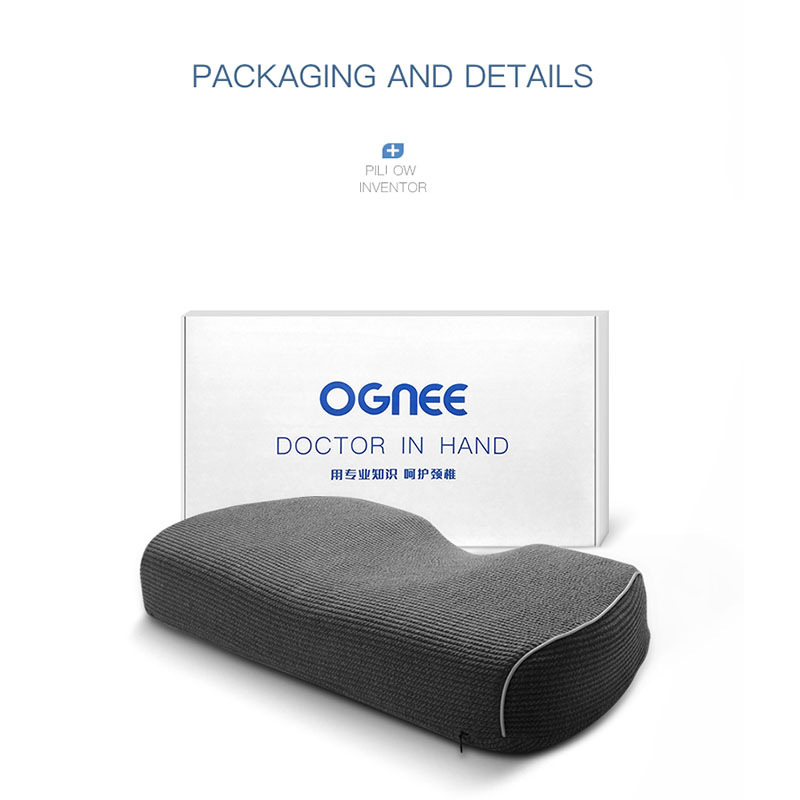 Ognee Sleep Spine Care Correction Space Memory Foam Improve Sleeping Comfortable Magnetic Therapy Healthy Pillow