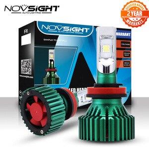 Светодиодный фары NOVSIGHT H11 для автомобиля, H8 H9, 60 Вт, 16000LM, противотуманные фары для вождения автомобиля, лампы с одним лучом, противотуманные ф...