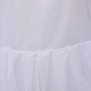 Image 5 - 3 שכבה חוט 2 חישוקי הכלה חתונה שמלת ארוך נגרר חצאית תחתונית אלסטי מותניים שרוך מתכוונן סליפ Fishtail חצאיות