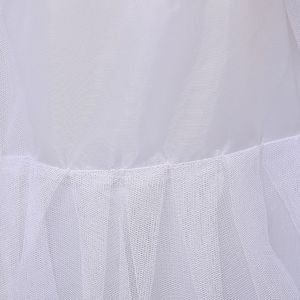 Image 5 - 3 Layer เส้นด้าย 2 hoops ชุดเจ้าสาวยาวผลกำไรในรอบกระโปรง Petticoat Elastic เอวปรับ Fishtail ลื่นกระโปรง